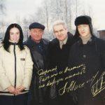 Чемпион мира по фигурному катанию Евгений Плющенко и заслуженный тренер России Алексей Мишин